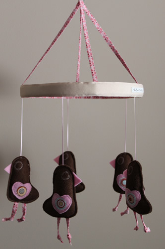 Chocolate-felt birds