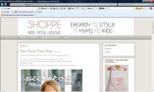 Red owls mobile featured in Shoppe KIDS Style VOGUE blog