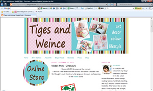 Dinosaurs mobile featured in Tiges and Weince blog