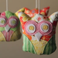 Colourful owls nursery mobile